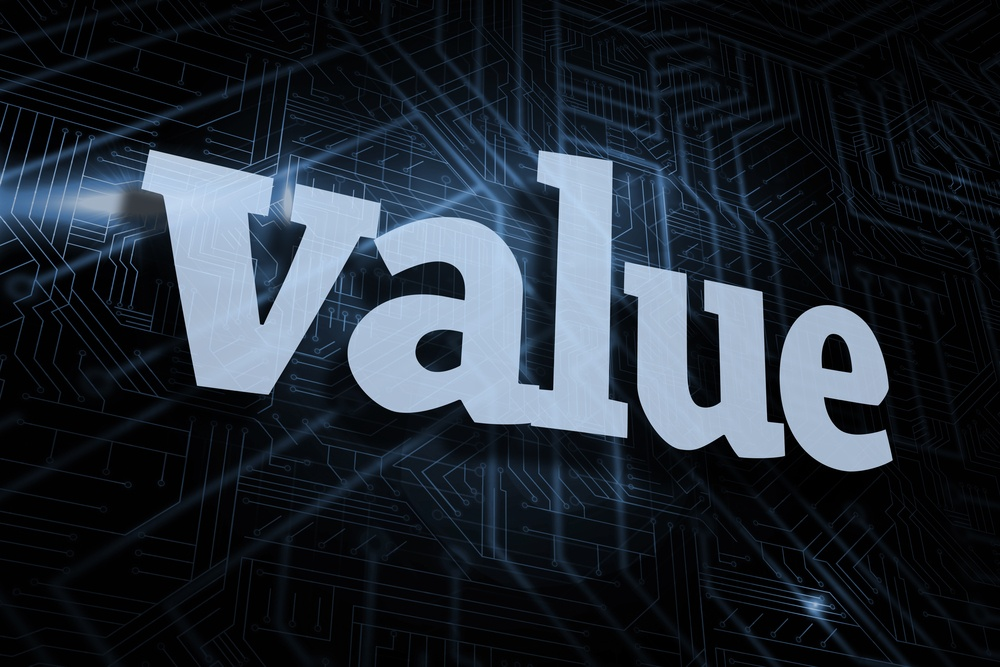 The word value against futuristic black and blue background.jpeg